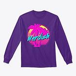 purple nerdish long sleeve tee