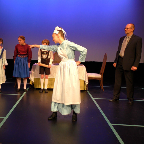 """Gerda sings about the """"ghost"""" that walks at night, and frightens the children."""