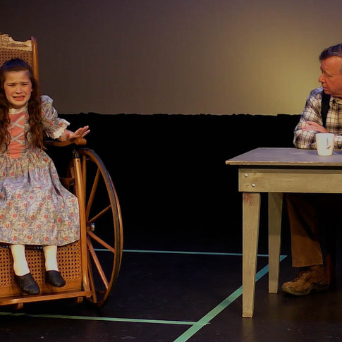 Clara tells Grandfather why she wants to stay in the mountains