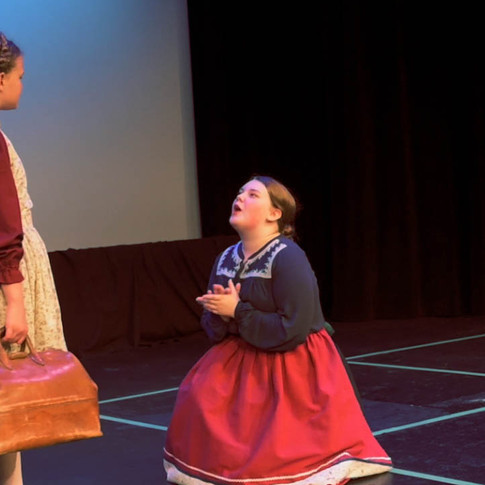 Aunt Dete pleads with Heidi to become a companion to Clara