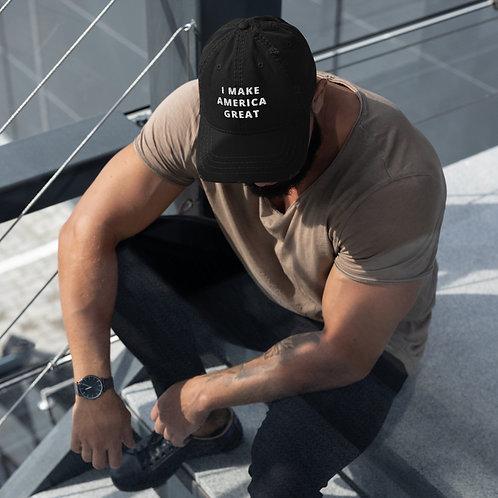 I Make America Great Distressed Dad Hat