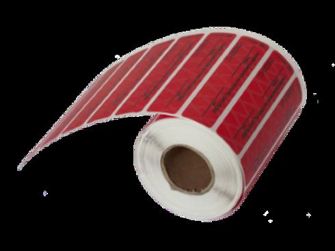 Номерное сигнальное устройство-наклейка СКР-2,  20х100, горизонтальная красная,