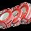 Thumbnail: Номерное сигнальное устройство-лента КТЛ+НП с перфорацией,(30х76, красное 76мм)