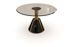 Silhouette pedestal table