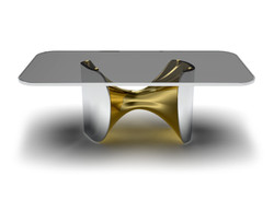 Fusion Dining table Nickel