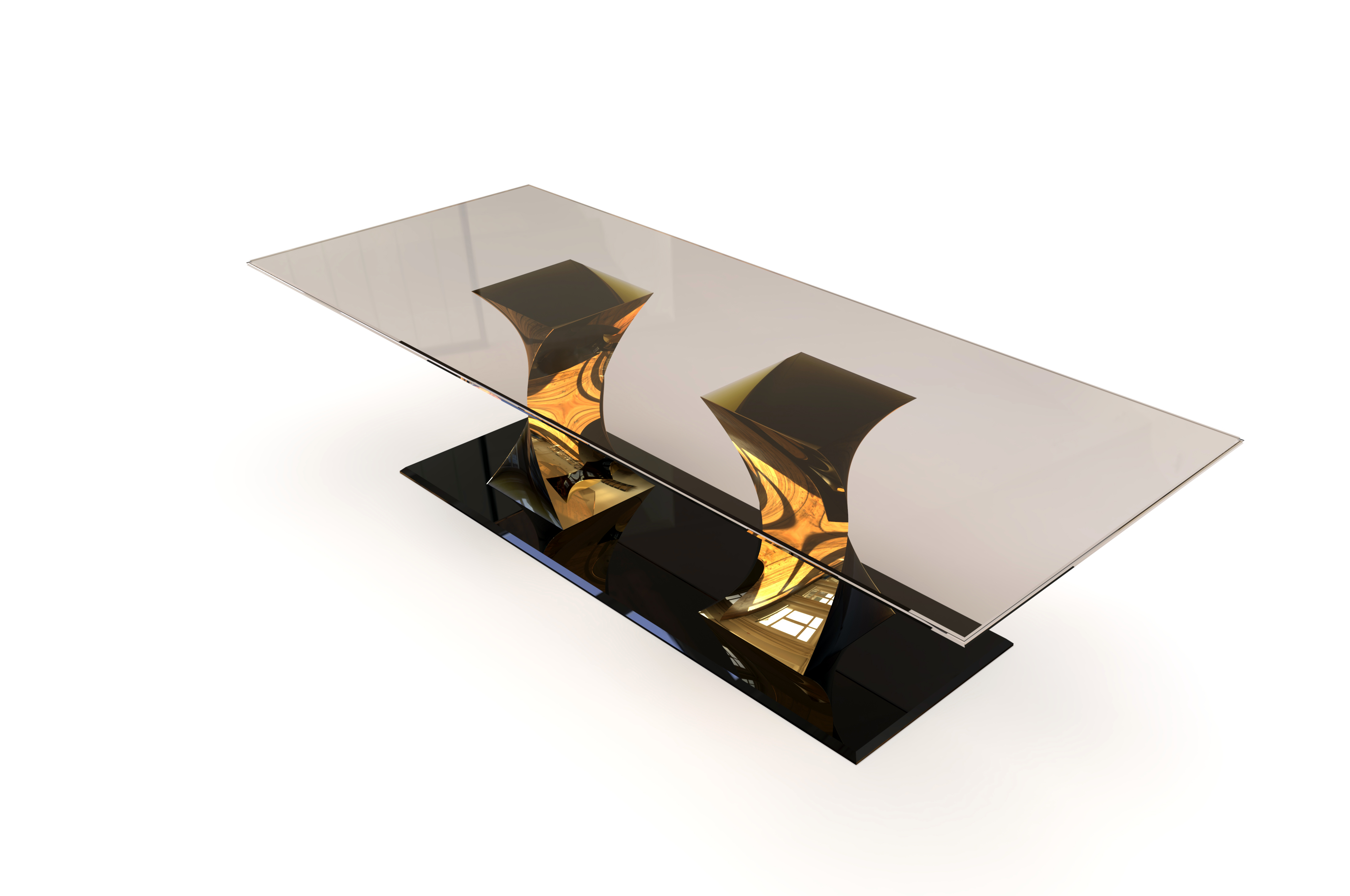 Twist dining table