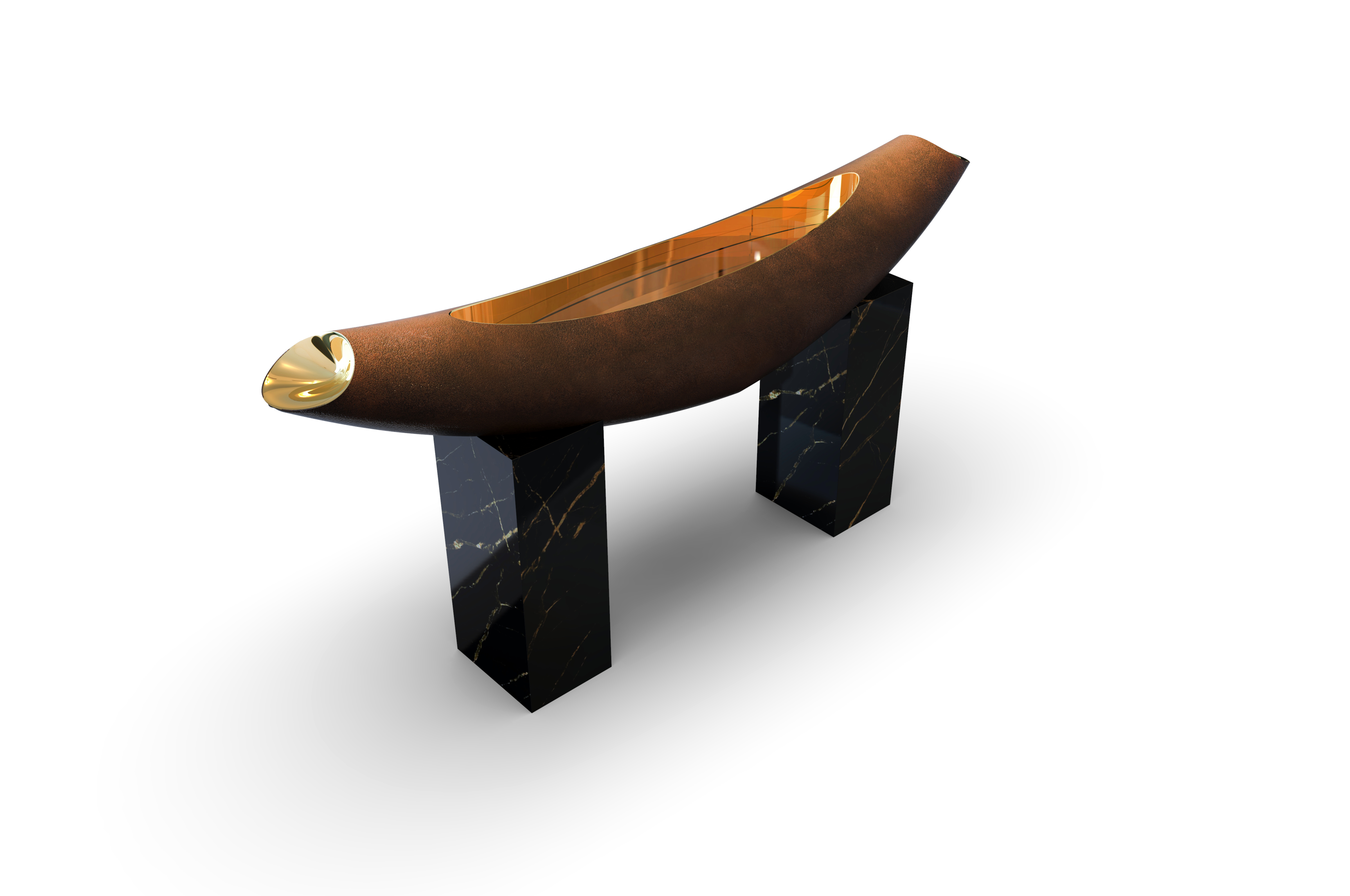 Oval console