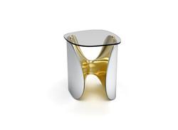 Fusion Side table Nickel