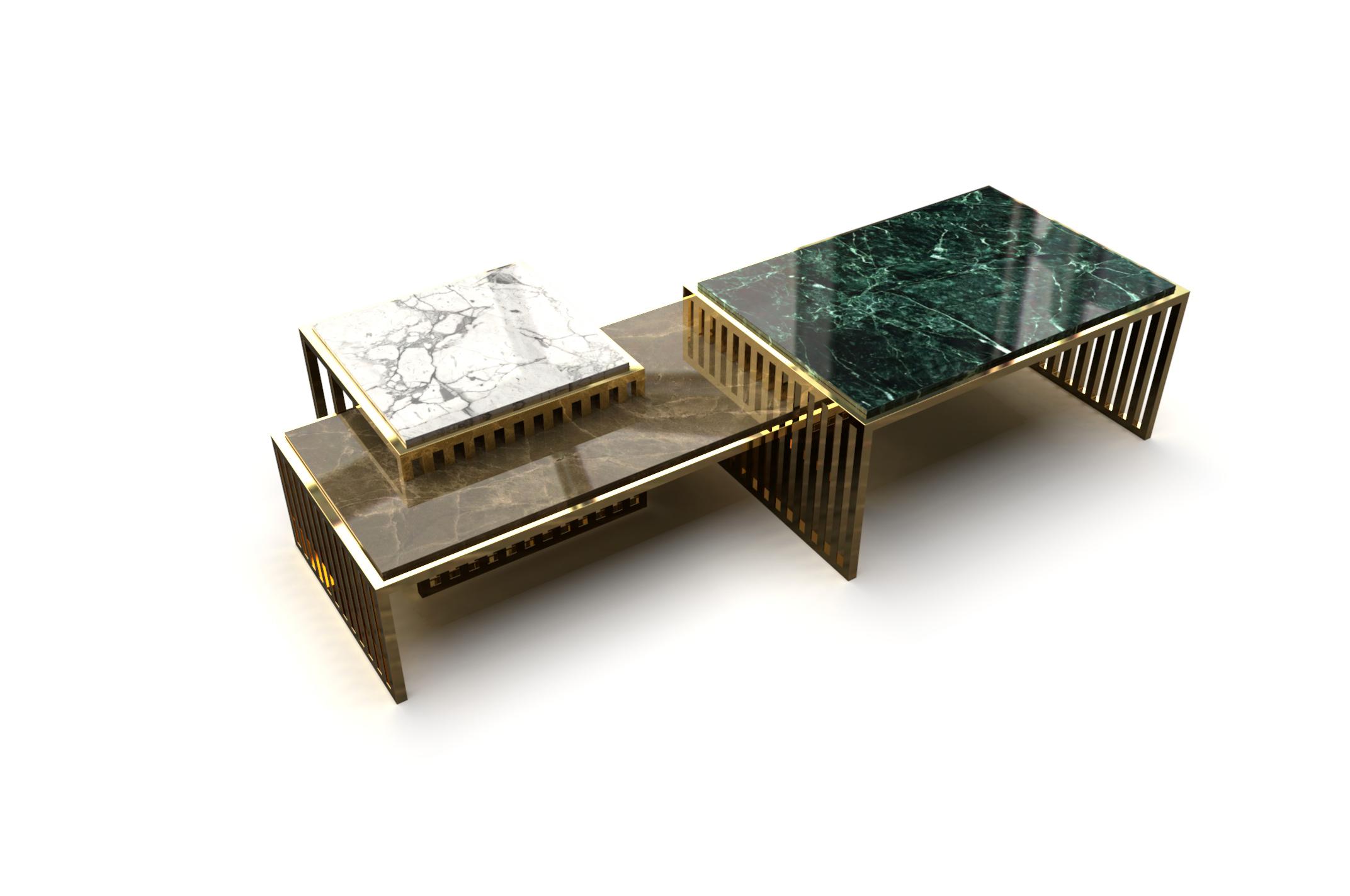 Grid coffee table