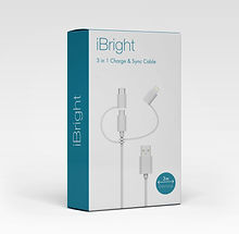 iBright 3 in 1 charge & sync cable