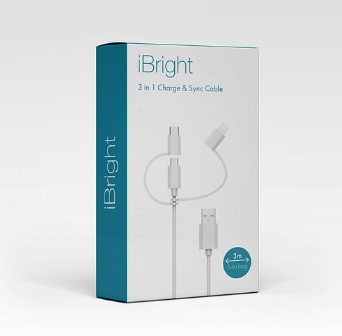 iBright 3in1 Charge & Sync Cable