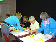 Students busy with a Hands-on Workshop