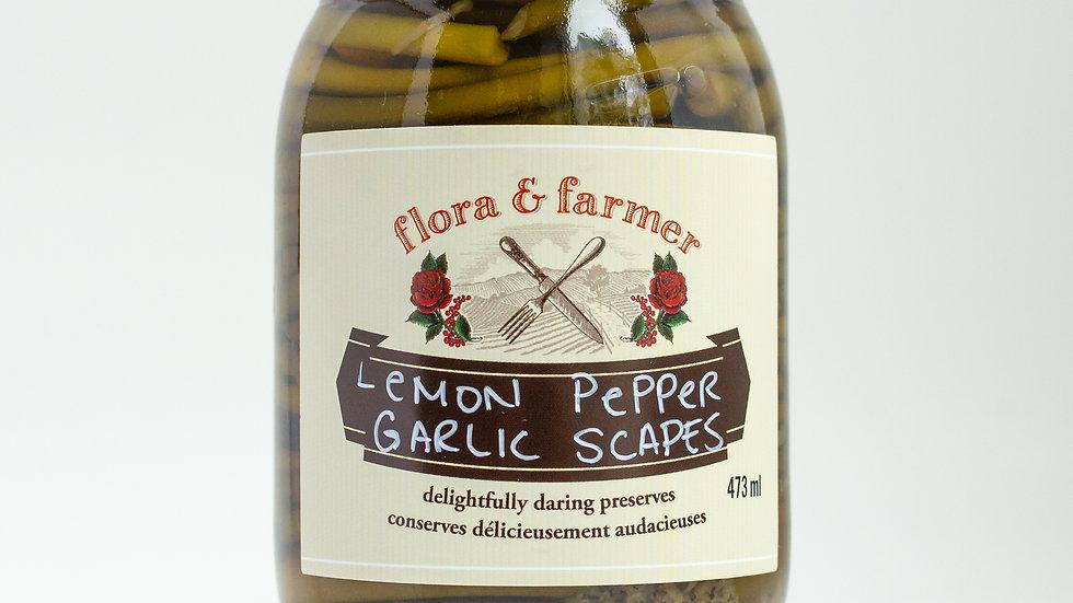 Lemon Pepper Garlic Scapes