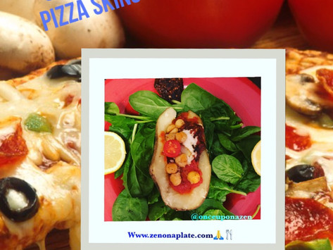 HEALTHY FAST FOOD: CHICKPEA PIZZA SKINS