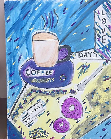 """My  painting is called """"Coffee Days"""" And"""