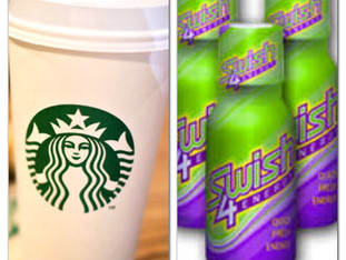 FOR THE ENERGY BUZZ OF SWISH4ENERGY MOUTHWASH VS STARBUCKS COFFEE