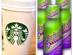 FOR THE ENERGY BUZZ OF SWISH4ENERGY MOUTHWASH VS STARBUCKS COFFEE