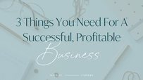 The 3 Things You Need For A Successful Profitable Business