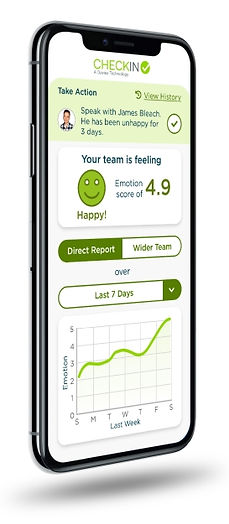 CheckIn mood tracking app statistic screen