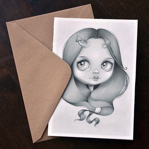Mushroom Girl Notecard