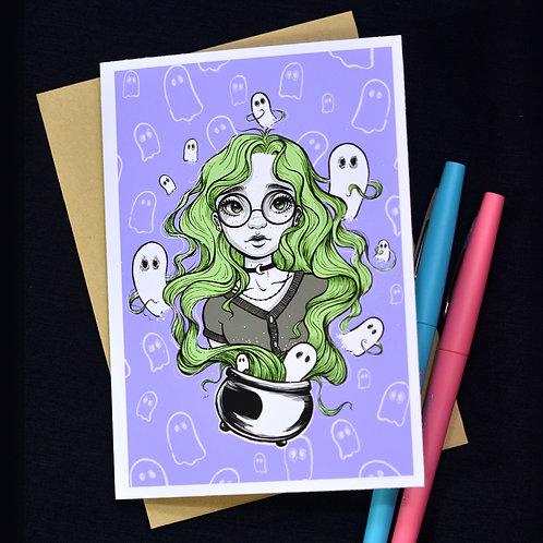 Ghost Hair Notecard