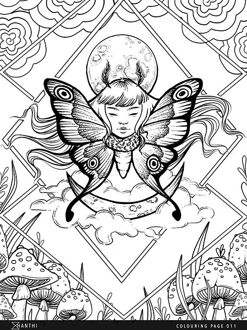 Free Patreon Colouring Page 011