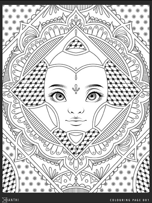 Free Patreon Colouring Page 001