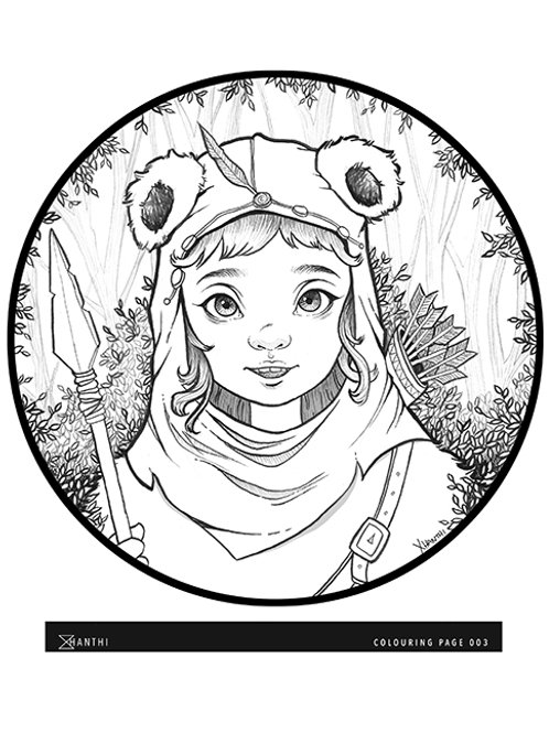 Free Patreon Colouring Page 003