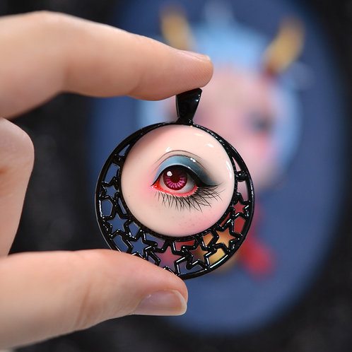 """Yokai"" Hand Painted Lover's Eye"