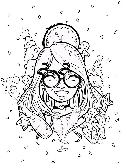 Free Patreon Colouring Page 006