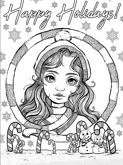 Free Patreon Colouring Page 005