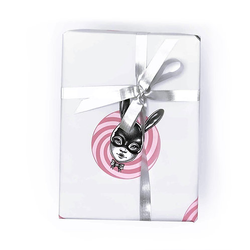 Peppermint Spot Bun Wrapping Paper