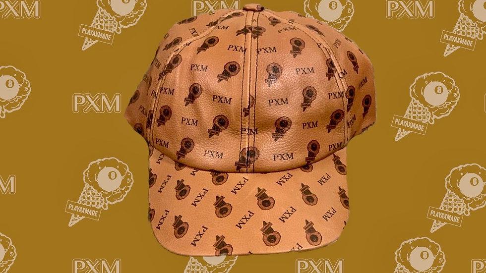MONOGRAM LEATHER BASEBALL CAP