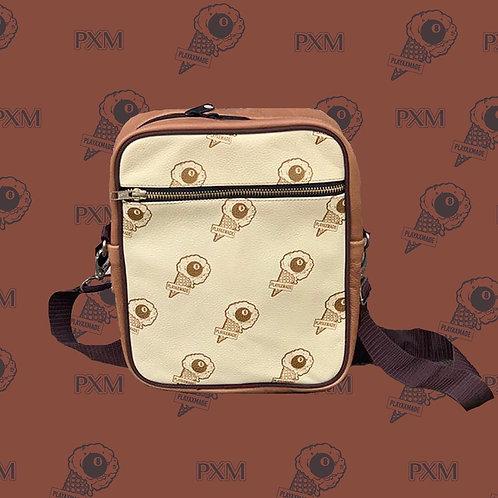 Logo Print Messenger Bag