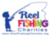 Reel Fishing Charities logo with website