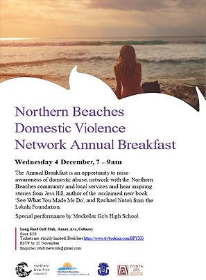 Domestic Violens Annual Breakfast Flyer.