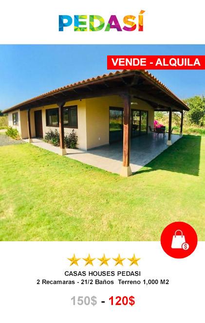 VENDE Y ALQUILA CASA DESDE 120$ POR DIA PEDASI, LOS SANTOS