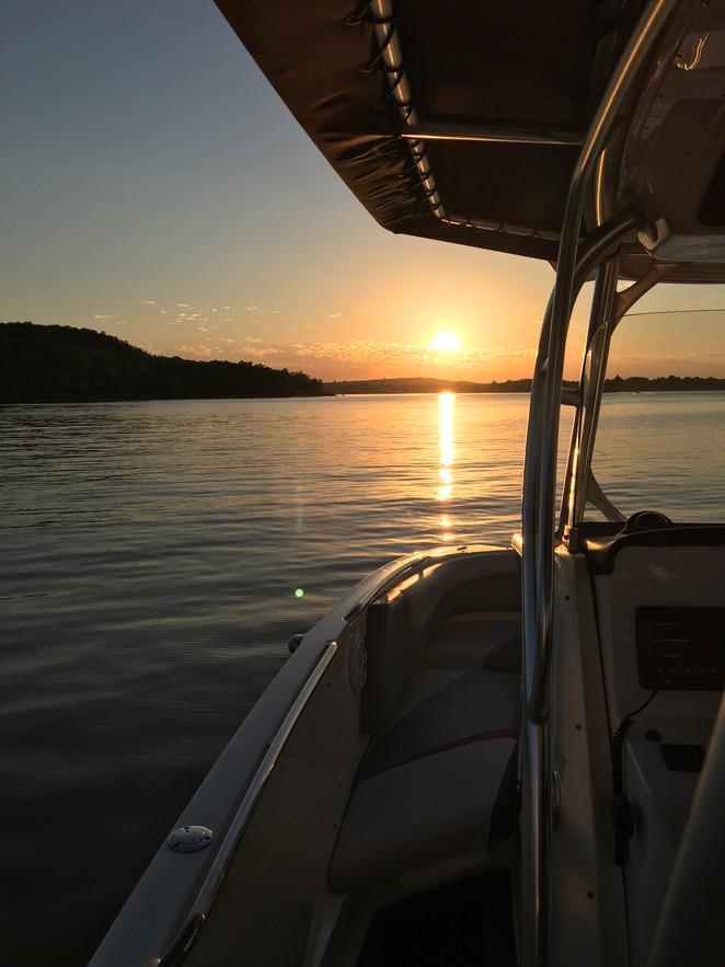 Sunset boat cruise on Lake Eufaula