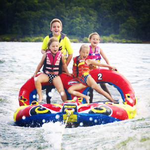 Tubing with neighbor friends