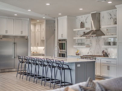 Kitchen with marble slab