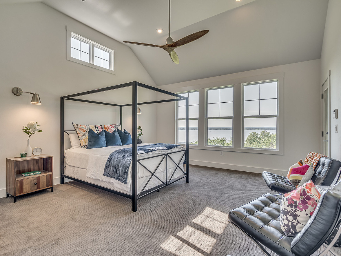 Master bedroom with view of Lake Eufaula