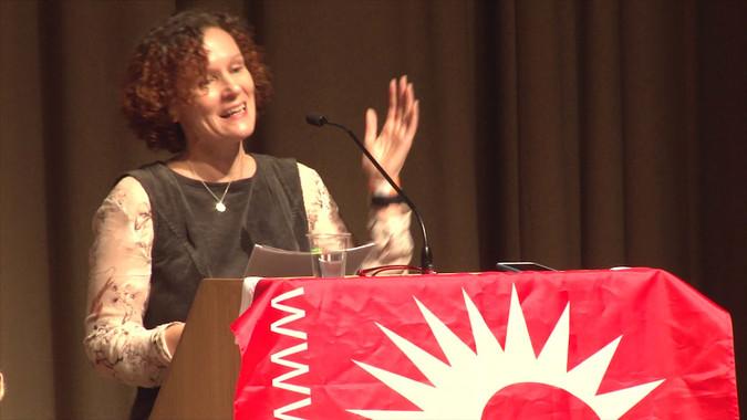 Socialist Party deputy general secretary Hannah Sell speaking at Socialism 2019