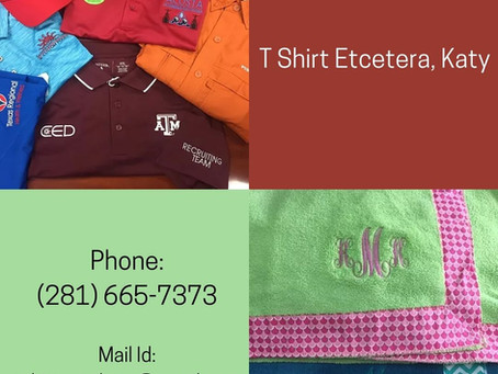 Get the customized Embroidery on T Shirts online with a reasonable price