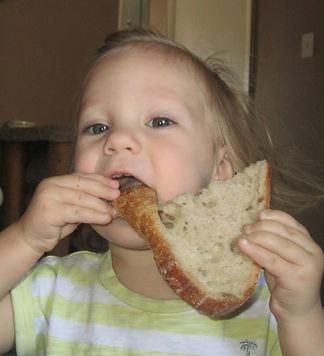 Babies love healthy sourdough bread!