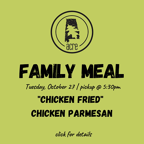Tuesday Night Family Meal (Pick up)
