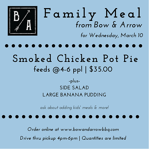 Wednesday Family Meal (March 10)