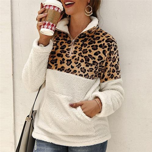 Sherpa & Leopard Pullover