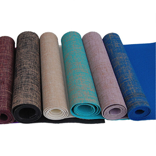 Linen Top Yoga Mat 5mm