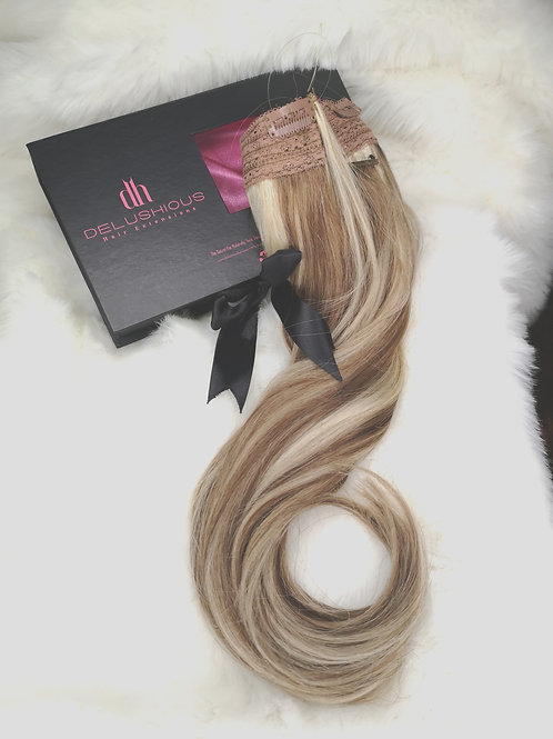 Sandy Blonde Halo extensions