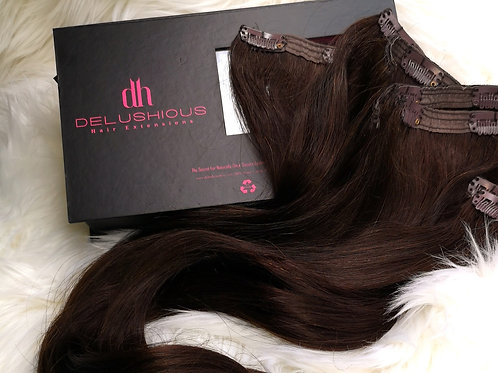 Dark Chocolate 22 inch Clip-in Extensions